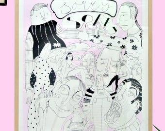 SORRY-handmade silkscreen poster (50x65cm)