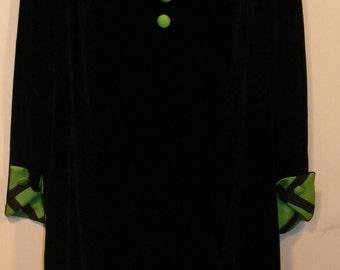 50s Velvet Dress Small
