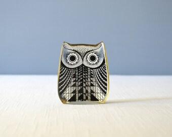 RESERVED Vintage Small Abraham Palatnik Lucite Owl Figurine