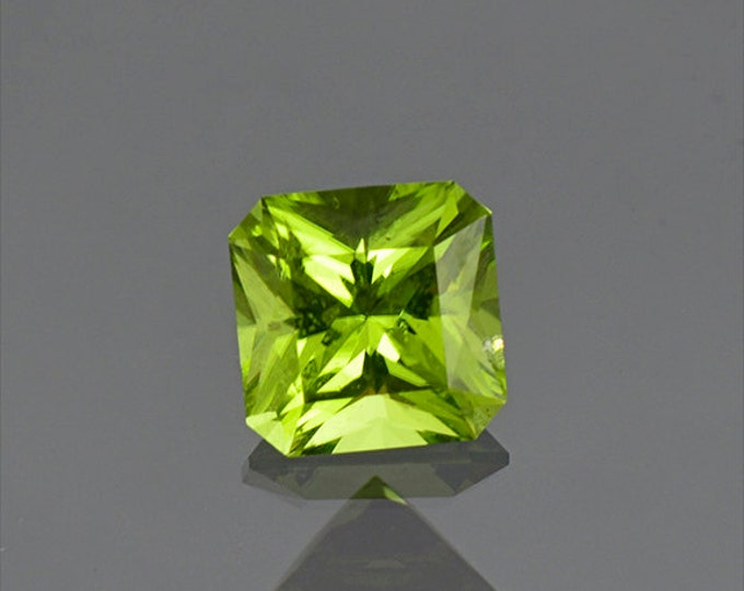 UPRISING SALE! Lovely Lime Green Peridot Radiant Asscher Cut from Ethiopia 1.74 cts.