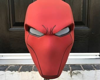 READY TO SHIP: Red Hood helmet (with some small flaws - see pics/read description)