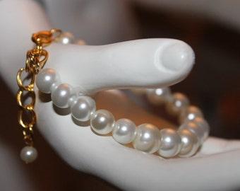 Cream Pearl Jewelry, Cream Pearl Bracelet, Cream Beaded Jewelry, Cream Beaded Bracelet, Bracelet with cream Pearls, Cream Jewelery, Cream