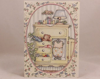 Among Friends Greeting Cards. One Card and Envelope. Baby Dresser