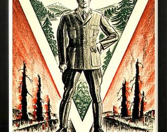 Prevent Forest Fires Dept of Interior Retro poster 1930s Custom Framed A+ Quality