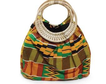 African Kente print Handbag