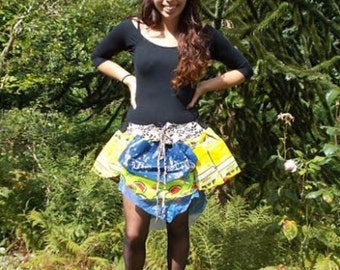 Plastic Bag Skirt, Upcycled Skirt, Festival Skirt, Waterproof Tutu *REDUCED*