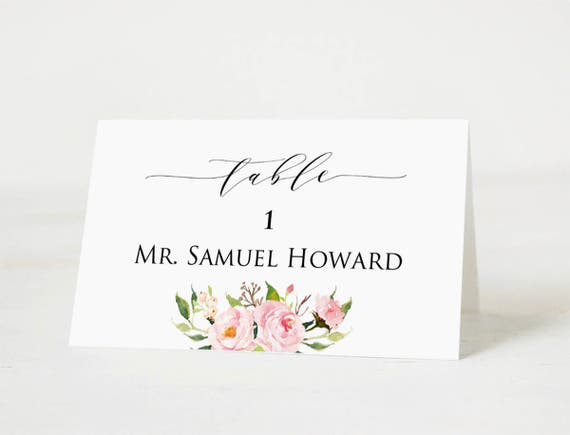 templates for place cards for weddings - wedding place cards template printable head table place card