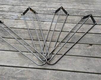 Mid Century Modern Hairpin Legs- Steel hairpin Legs- Set of 4