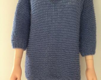 Hand knit oversized sweater