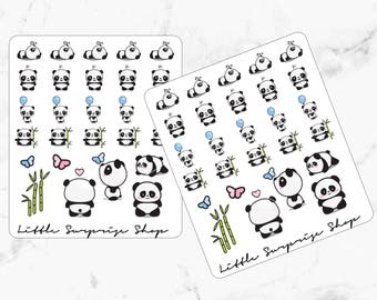 Kawaii Panda Stickers // KA007