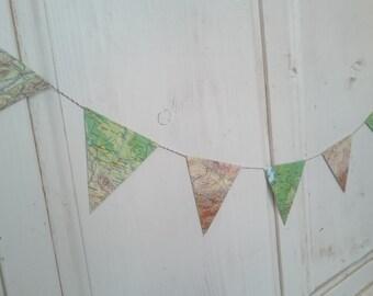 Wimpelkette Girlande aus Deutschland Landkarte . Reiselust Urlaub Fernweh . Pennant chain . map . cover . travel . paper chain . garland