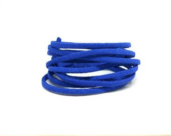10 m cord Suede Blue Royal 3mm