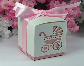 girl baby shower favor boxes baby girl shower favor boxes 10pack