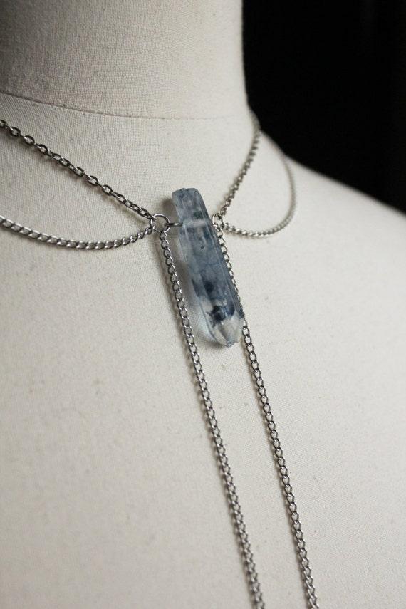 Necklace chart heavenly blue quartz