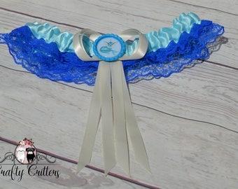 Vaporeon Garter - Custom Garter - Traditional Garter - Bridal Garter - Satin Garter - Lace Garter - Novelty Garter - Pokemon Garter - Cute