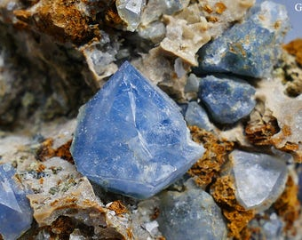 Rare Natural Blue Quartz Specimen from Spain