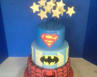Super Hero Cake Decorations
