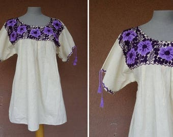 1930's Bohemian Peasant Blouse - 30's Gypsy Embroidered Hungarian Blouse - Size M