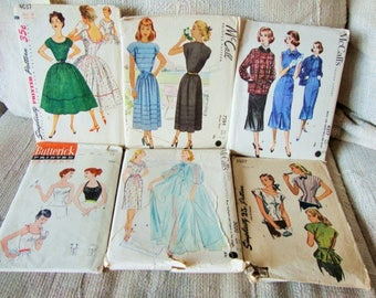 Sewing Patterns Bundle, Simplicity, McCall's, Butterick, 1940's & 1950's  Dresses, Tops, Jacket, Nightgown, Peignoir