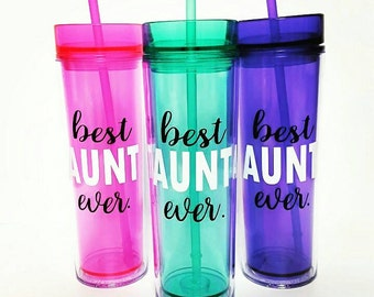 Best Aunt Ever // Gift for Aunt // Aunt Gift // Godmother Gift // Aunt Tumbler // Aunt Gifts under 15 // Godmother Gift under 15 // Aunt cup