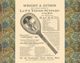 Vintage Tennis Poster, Office Wall Decor, Home Wall Art