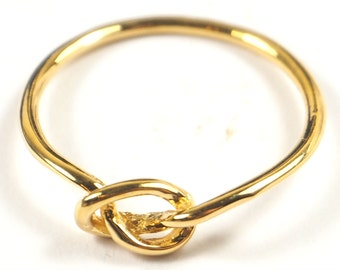 Gold Plated Knot Ring