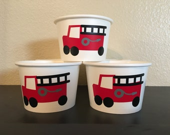 Fireman Party Snack Cups