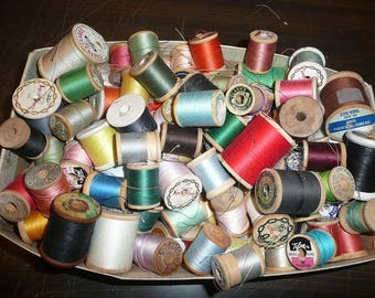 Wood Thread Spools Threads Some With Threads Some Vintage