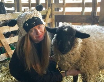 Sheep Hand Knitted Hat