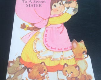 VTG Happy Mother's Day, sister card ( unused )