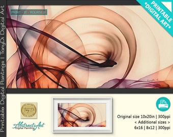 Beautiful Mind 2-2 • Abstract Printable Wall Art, Colorful abstract lines • Modern Abstract Digital Painting • Home Decor, Print Art Decor