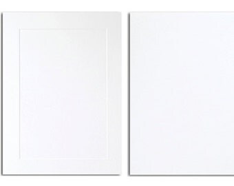 20 Pack A2 Blank Card Stock in White - Single or Folding Cards with an Embossed Front or a Smooth Flat Front - 80# Cover Stock
