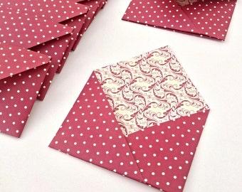 """8 mini envelopes incl. inserts 3""""x2"""""""