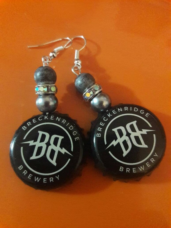 Breckenridge Brewery Upcycled Bottle Cap Earrings