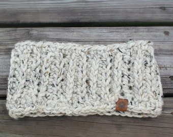 Winter Wheat Ribbed Headband // Crochet // Handmade // Free Shipping