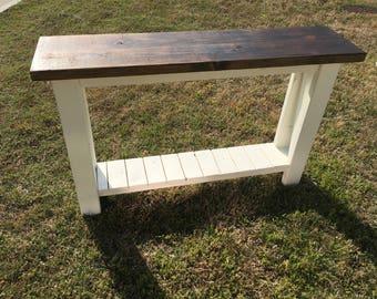 Custom Farmhouse Console Table- Sofa Table