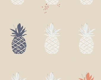 SALE!! 1 Yard Charleston by Amy Sinibaldi for Art Gallery Fabrics - Ananas Cream 51704