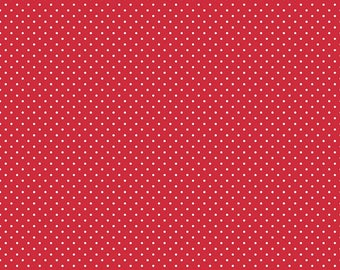 1 Yard- Red Swiss Dot by Riley Blake Designs- 670-80
