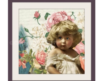 Shabby Etsy Banner Cover Victorian Cheeks DIY Icon Vintage Girl Child Blank Shop Store Set Flowers Instant Digital Download