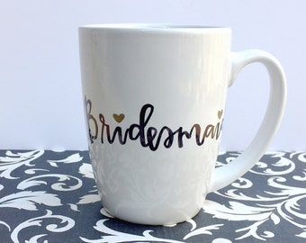 Personalized Bridesmaid Coffee Mug-Custom Bridal Party Coffee Cup Gift for Bridesmaids Wedding Party Gift Personalized Name Coffee Mug