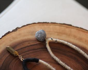 Boho Necklace IV (gray stone)
