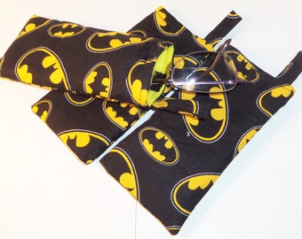 Eye Glasses Cases/ Geeky Eye Glass Cases Batman Inspired /Handmade/Eye Glass Pouch/Glasses Holder