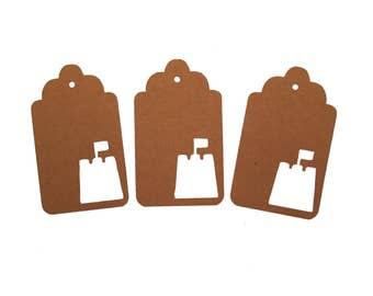 Sand Castle Gift Tags