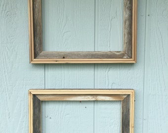 Rustic reclaimed picture frame