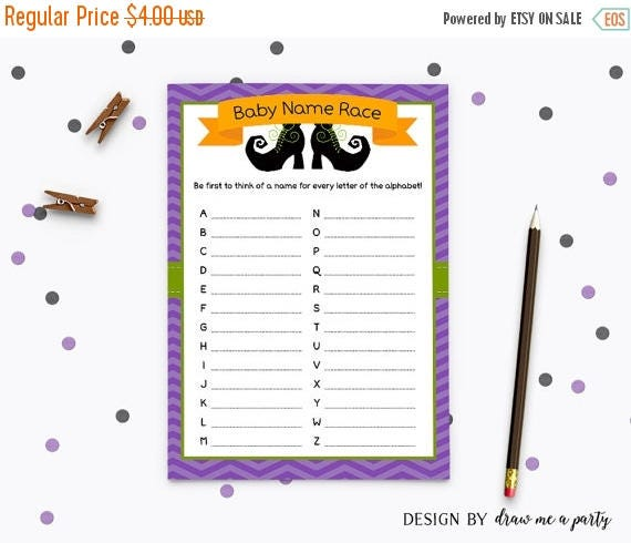 baby shower halloween baby name race halloween baby shower game