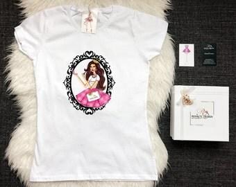 Fashion T shirt - Trendy tshirt for bloggers -Designer T-shirt - White stylish tshirt-Queen
