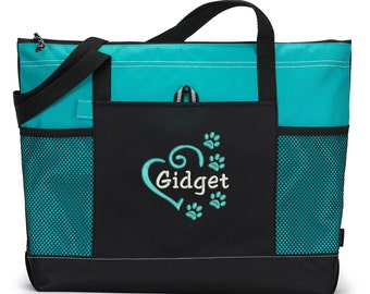 Dog Tote Personalized Embroidered Pet Travel Tote