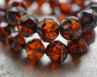 Amber Glow, Czech Beads, Beads, N2254