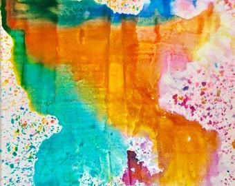 "Original Oil & Acrylic Painting, 12"" x 12"""