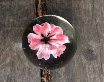 47mm Life Like Red Flower Marble
